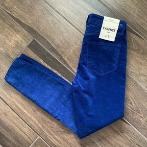 L'AGENCE Margot High Rise Ankle Skinny Jeans Royal